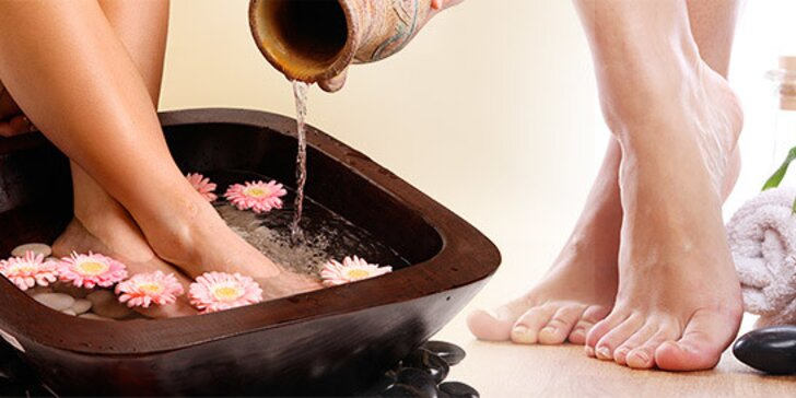 Hodinová kompletná relaxačná mokrá pedikúra nôh