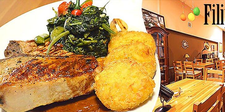 Kráľovský T-bone steak z teľaciny aj s prílohou