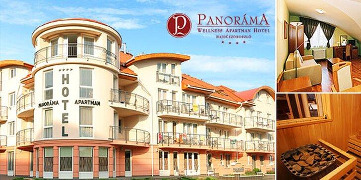 Wellness pobyt v Maďarsku s ubytovaním v Panoráma Wellness Apartman Hotel****
