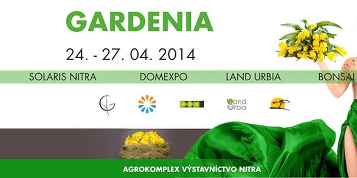 V záhrade ste ako doma - vstupenka na výstavu GARDENIA 2014