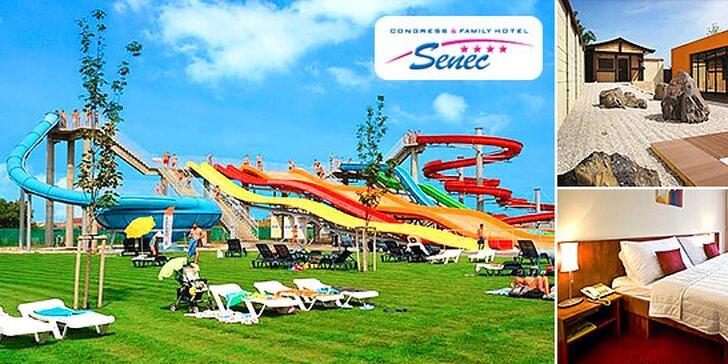 Wellness & Aquapark & Šport pobyt v hoteli Senec****. Až 2 deti do 12r. ubytovanie na prístelke zdarma!