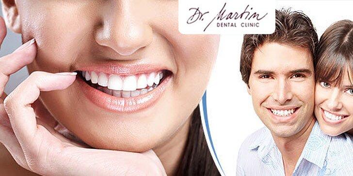 Dentálna hygiena alebo profesionálne bielenie zubov s medzizubnou kefkou GRÁTIS