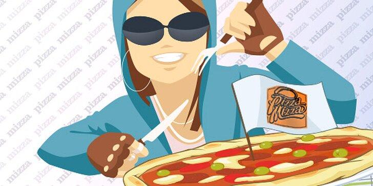 Skvelá XL pizza pre dvoch v Pizza Mizza v Auparku