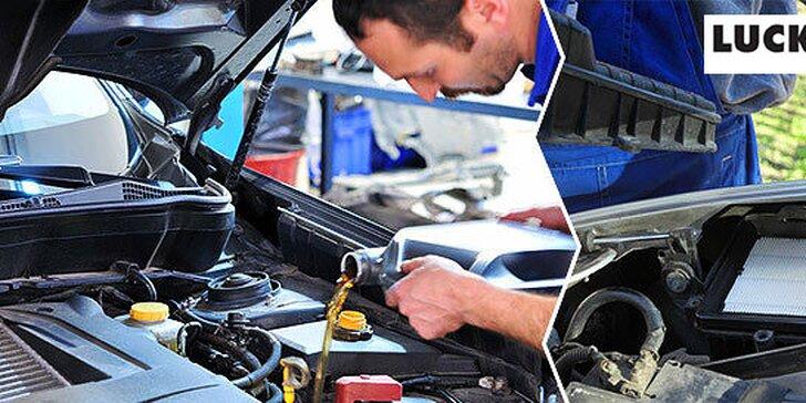 Výmena motorového oleja + diagnostika vášho vozidla