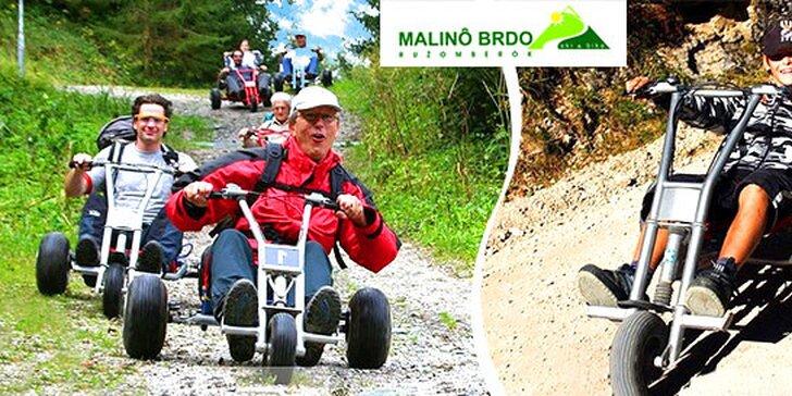 Zábavná jazda horskou károu z Malina Brda
