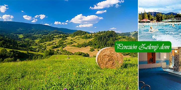Letný relax pre 2 osoby na Orave