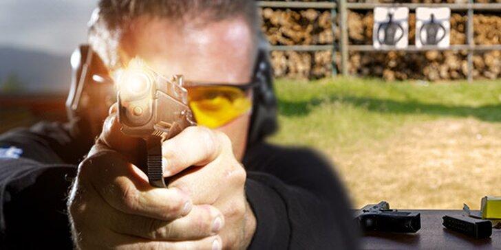 Strieľanie na strelnici, airsoft alebo kurz pre žiadateľov o zbrojný preukaz