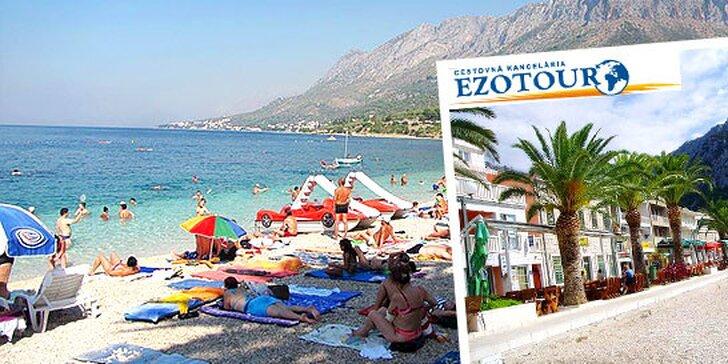 Slnečná dovolenka na 10 dní pri mori v Chorvátsku