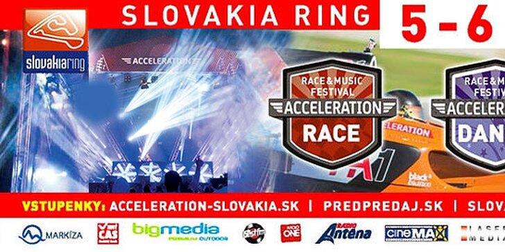 Acceleration - hudobný a pretekársky festival na okruhu Slovakia Ring, deti do 11 rokov ZDARMA