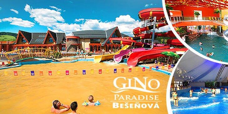 Celodenný vstup do vychýrených termálnych bazénov GINO PARADISE v Bešeňovej