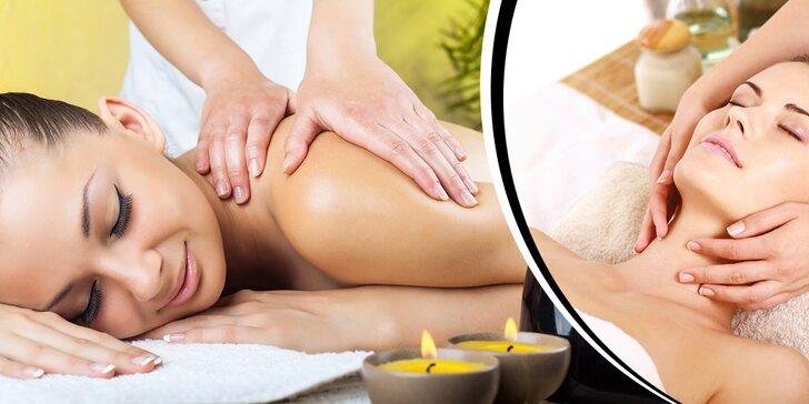 Klasická alebo športová masáž pre uvoľnenie aj dobrý pocit