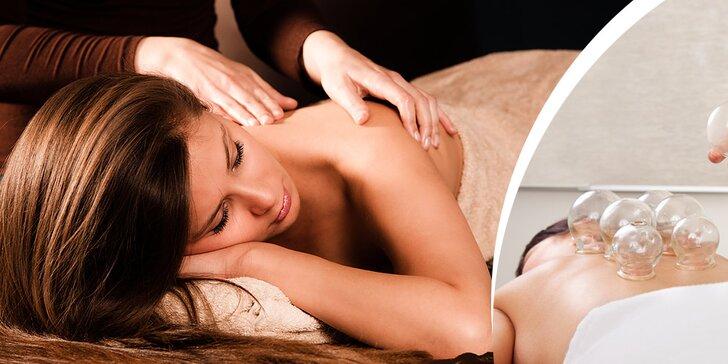 Dokonalý relax: klasická masáž, bankovanie alebo rašelinový obklad