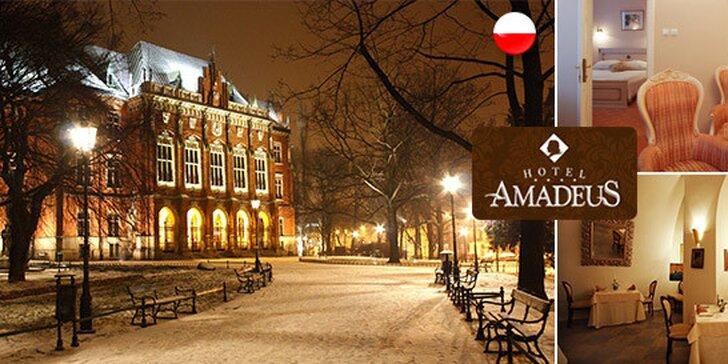 Hotel Amadeus****, 3 dni luxusu v centre Krakova