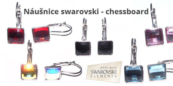 eb99092c5 Náušnice swarovski - šachovnicový vzor   Zlavomat.sk