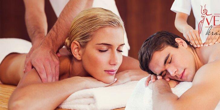 50 minút nirvány s masážou a zábalom