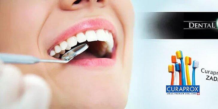 Top ambulantná dentálna hygiena + kefka Curaprox alebo bielenie zubov