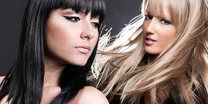Dámsky strih s regeneráciou, melírovanie, farbenie vlasov alebo spoločenský účes
