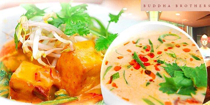 Lahodné thajské menu pre dvoch v Buddha Brothers