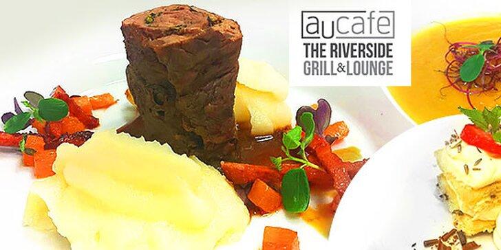 Skvelé degustačné 3-chodové menu pre 2 osoby v známej reštaurácii AU CAFÉ.