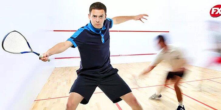 3 alebo 5 vstupov na squashový kurt v športovom centre Fanatix za skvelú cenu