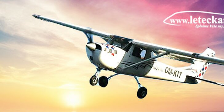 Vzrušujúci let lietadlom CESSNA 150 alebo CESSNA 172