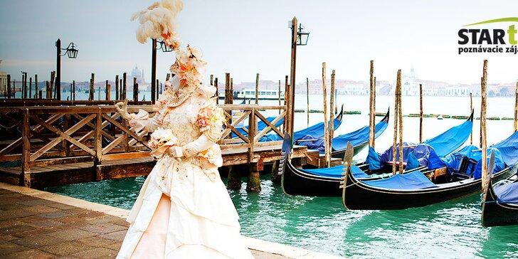 Benátsky karneval s návštevou ostrovov Muráno a Buráno - 3 dňový poznávací zájazd