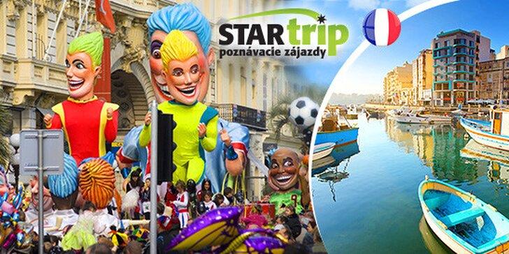 Karnevalová zábava na Francúzskej riviére v NICE