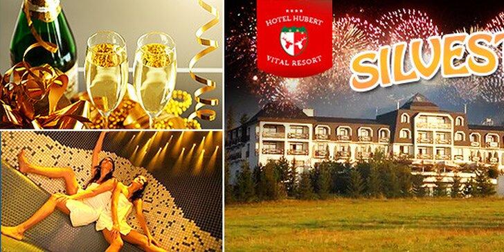 Nezabudnuteľný Silvester pre 2 v hoteli HUBERT****, polpenzia, 4 dni, dieťa do 12 rokov zadarmo