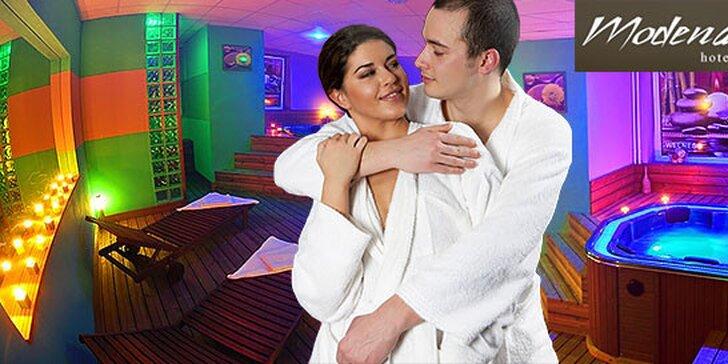 2-hodinový súkromný wellness pre 2 osoby v novootvorenom wellness centre Hotela Modena