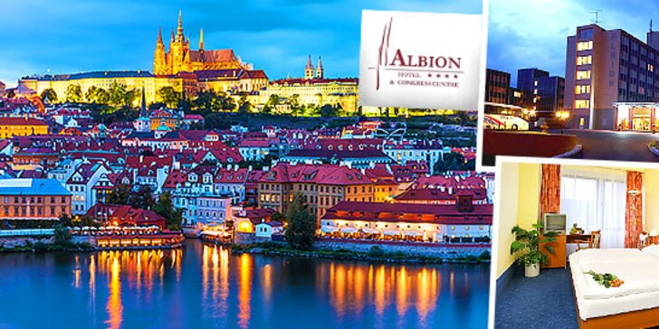 Pobyt pre 2 osoby na 3 dni v Hoteli Albion****, Praha