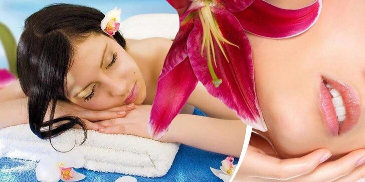 60 minútová celotelová masáž alebo 40 minútová masáž chrbta