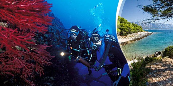 7-dňový kurz potápania v Chorvátsku
