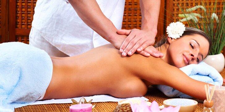 Ajurvédska olejová masáž, KODO masáž alebo permanentka v Ružinove