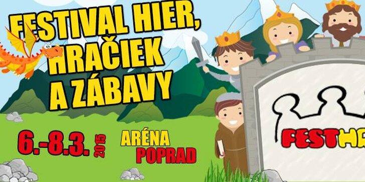 Rodinné vstupné na Fest hry v Poprade 6. – 8. marec