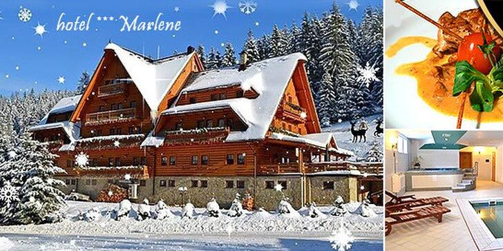 LAST MINUTE rodinná lyžovačka v Hoteli Marlene*** na Kysuciach s wellnessom, až 2 deti do 12 rokov zadarmo
