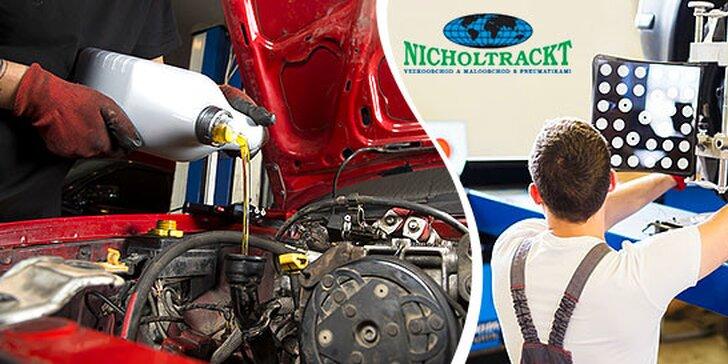 Servis a čistenie klimatizácie, kontrola geometrie, podvozku a pneumatík alebo výmena oleja