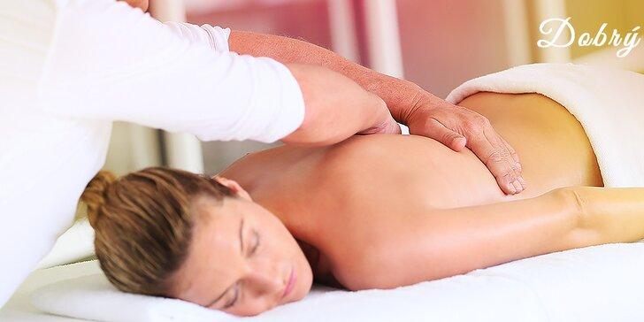 Hodinová klasická relaxačná masáž na zbavenie sa stuhnutého tela