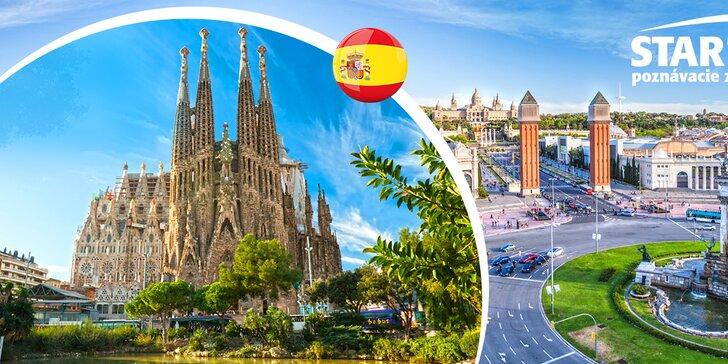 4-dňový poznávací zájazd letecky do Barcelony