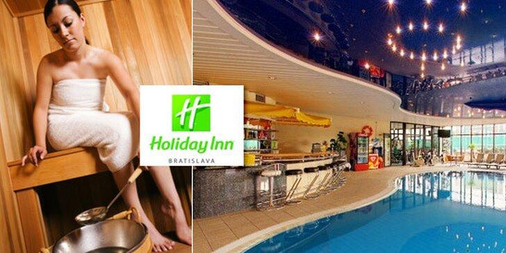 Celodenný vstup alebo permanentka na 5 vstupov do wellness centra hotela Holiday Inn v Bratislave