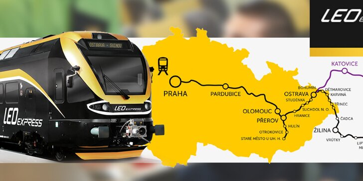 Kredit na vlaky LEO Express (532 Kč len za 11 €)