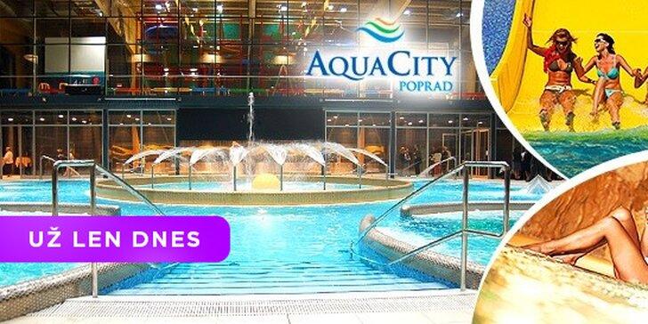 Celý deň v AquaCity Poprad s možnosťou relaxu v novootvorenom Fire & Water Wellness & Spa