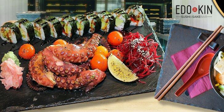 Pravé morské lahôdky s príchuťou Japonska v reštaurácii EDO-KIN