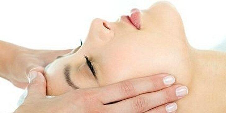 Hĺbkové čistenie pleti, masáž tváre, krku a dekoltu, parafínový zábal na ruky