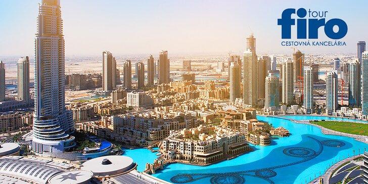 8-dňová dovolenka v Dubaji s letiskovými poplatkami, transferom a službami delegáta v cene