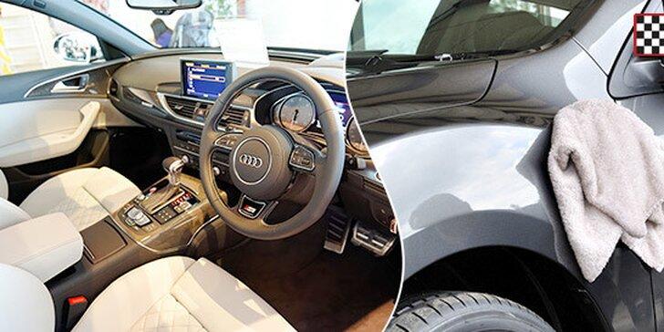Kompletné ručné umytie auta s tepovaním, voskovaním alebo vyčistením klimatizácie