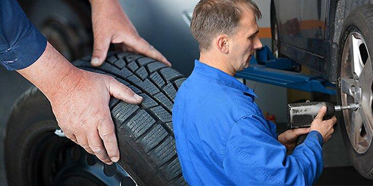 Prezutie a vyváženie pneumatík, nastavenie geometrie náprav + bezplatná kontrola podvozku