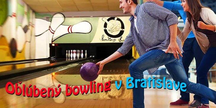 1 hodina zábavy na bowlingu pre celú partiu