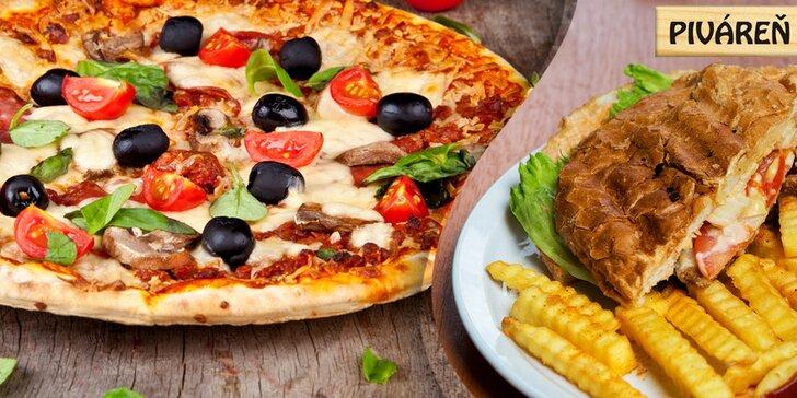 Vyberte si z 18 druhov chrumkavej pizze alebo poďte na hamburger s hranolčekmi