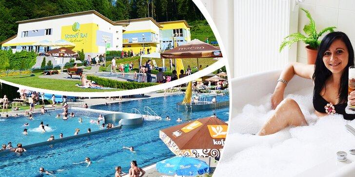 3-hodinový relax vo Vodnom raji Vyhne alebo relaxačný balík s pivným kúpeľom