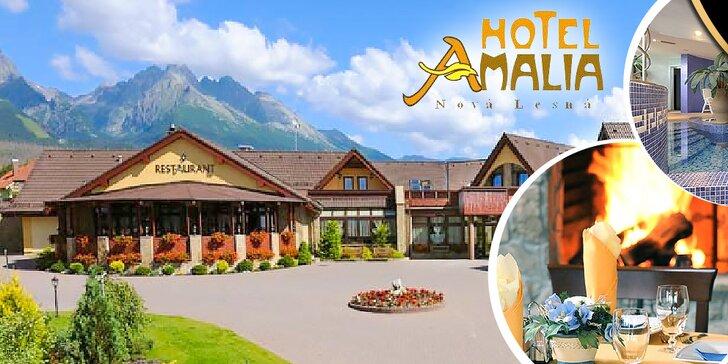Tatranský wellness pobyt v luxusnom Hoteli Amalia***+ pre 2 osoby na 3 či 4 dni, dieťa do 6 rokov zadarmo